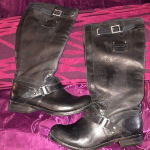 Caterpillar Black Leather Boots Size 5 1/2